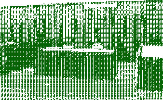 ascii image of a convention booth