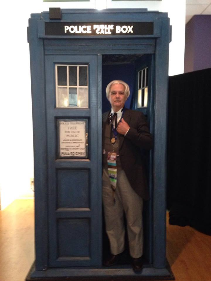 Bud as the first doctor in a tardis